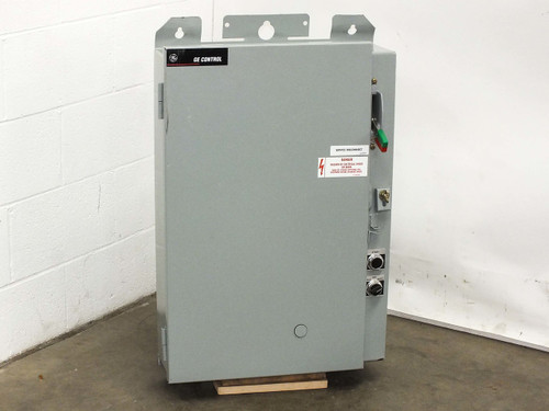 GE 40HP Pumping Plant Panel Outdoor Enclosure Disconnect 500VA Transformer CR341
