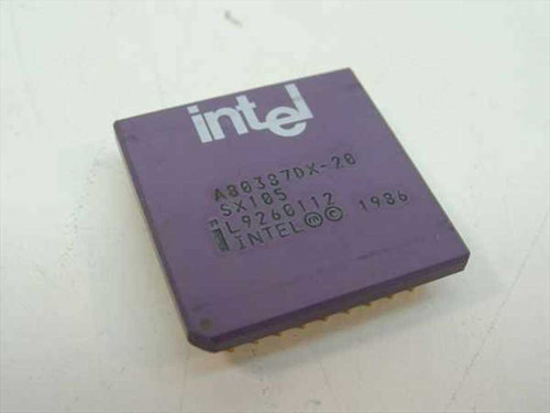 Intel A80387DX-20 Vintage 386 Math Co-Processor 20 Mhz (SX105)