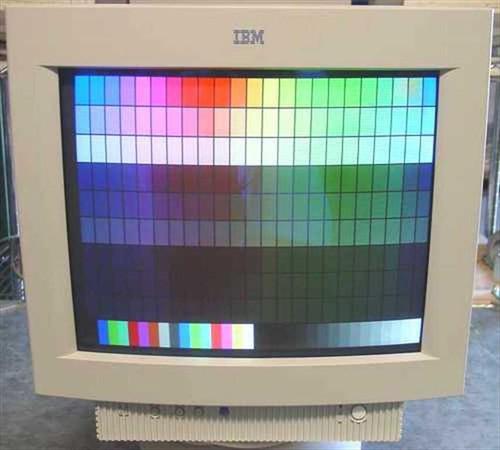 """IBM 6547-0AN  17"""" G74 SVGA Monitor W/Base"""