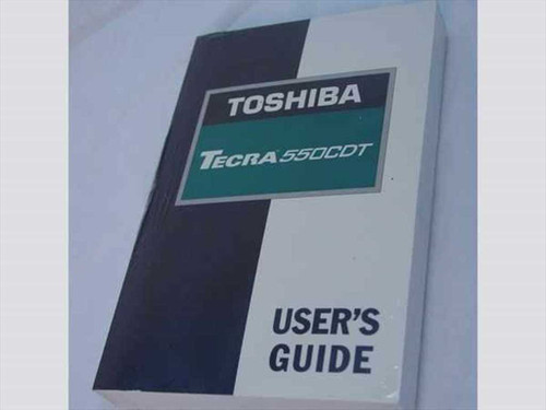 Toshiba Tecra 550CDT  Toshiba Tecra 550CDT User's Guide