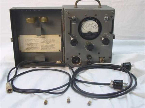 USN TS-487/U  Military Voltmeter - Test Set w/SO-239