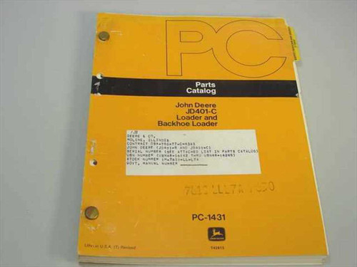 John Deere PC-1431  JD401-C Loader and Backhoe Loader - Parts Catalog