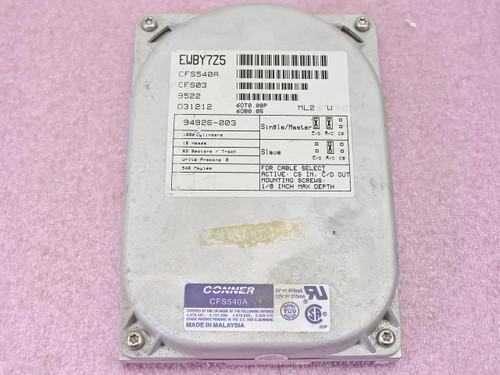 "Conner CFS540A  540MB 3.5"" IDE Hard Drive"
