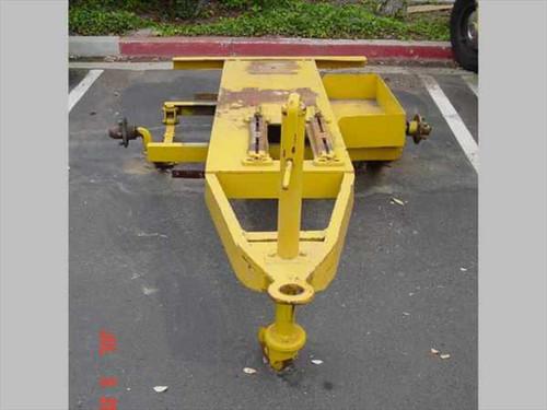 Trailer Yellow  Heavy Duty Trailer - Missing Wheels