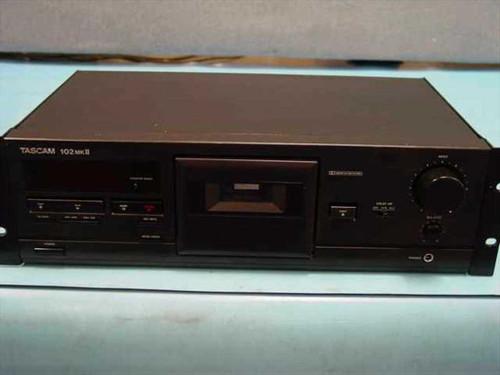 """Tascam 102 MKII  19"""" rackmount pro master tape cassette deck"""