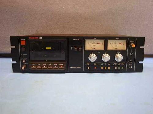 """Tascam 112  19"""" rackmount pro master tape cassette deck"""