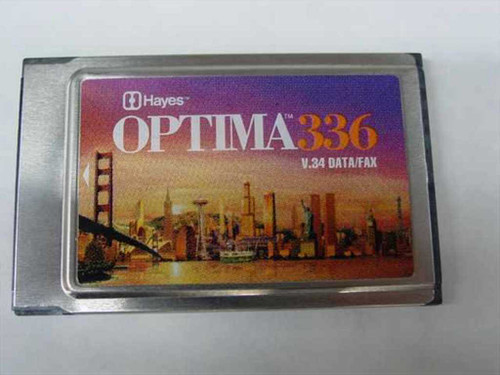 Hayes 5346US  33.6K Optima V.34 & Fax for PCMCIA