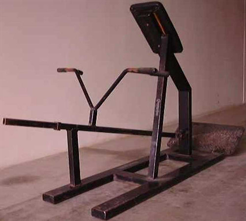 Champion Barbell Back Machine  T- Bar Row, plate loaded