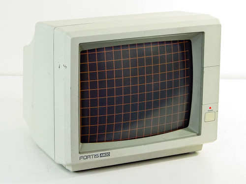 "Fortis AM-30  12"" Monochrome Video Monitor RCA Composite"