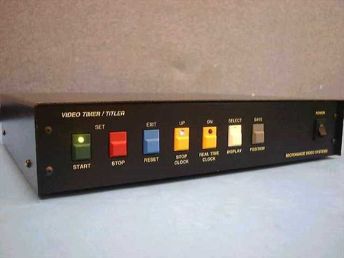 Microimage Video Systems TT 700  RGB Video Timer Titler