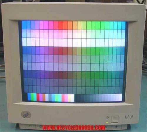 """IBM 6543-313  15"""" G50T .28DP Touchscreen W/Burn no base"""