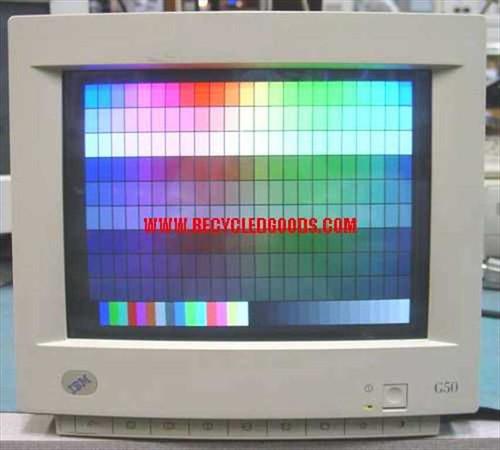 """IBM 6543-301  15"""" SVGA G50 Monitor P/N 96G1593 - NO BASE"""