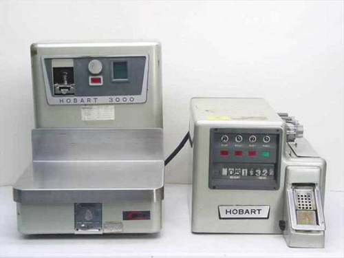 Hobart 3000S and 3000L  Scale and Labeler System - Vintage