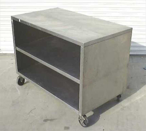 Generic Lab Cart  Stainless Steel Dual Shelf Lab Cart