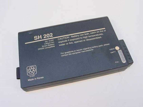 Saehan-Enertech DR202  SH202 10.8v Li-Ion Duracell DR-202 compatible Batt