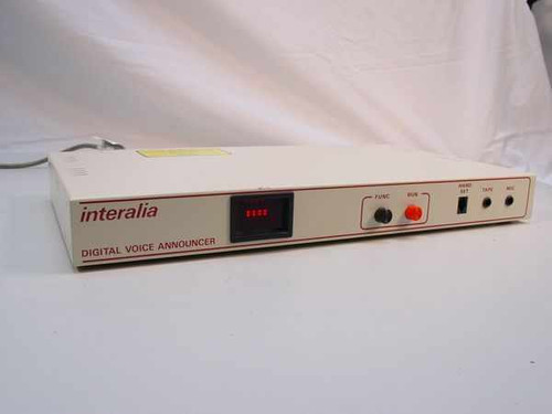 INTERALIA DMU-2AB  DIGITAL VOICE ANNOUNCER