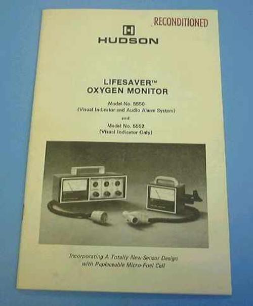 Hudson 5552  Lifesaver Oxygen Monitor