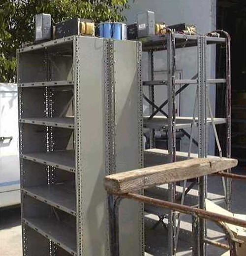 Chloride Electro Networks P-11245  Lot of 3 Motor Test Rack Shelves w/Power Distribut