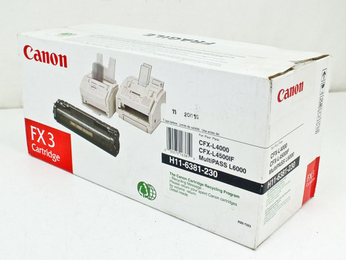 Canon H116381230  FX3 Toner Cartridge For CFX-L4000/L4500