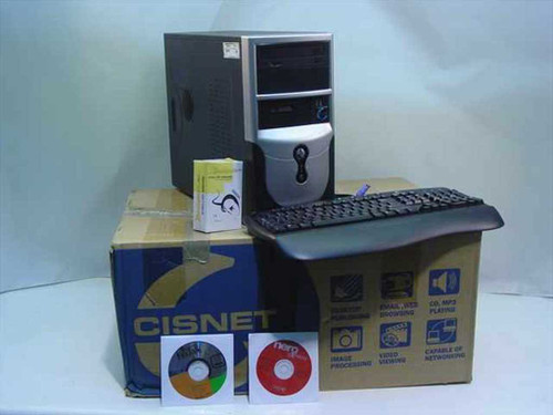 Cisnet T31 AMB 1.8 GHz CPU 40GB HDD 128MB RAM Tower PC Computer C-28 - WIPED
