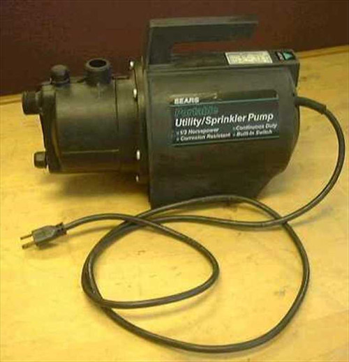 Sears 390.260291  Portable Utility/Sprinkler Pump