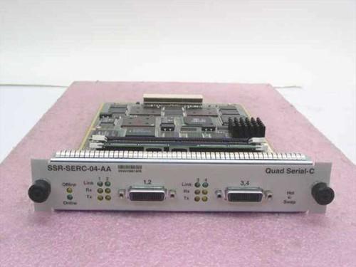 Cabletron SSR-SERC-04-AA  800/8600 4 Port Serial Modem Quad Serial-C