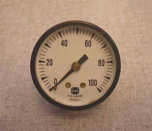 "US Gauge O2 Gauge  1 3/4"" O2 Pressure Gauge"