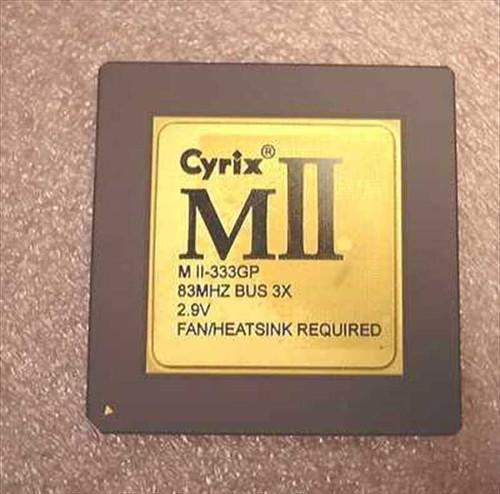 Cyrix MII-333GP  MII 333GP Processor 83Mhz Bus 3X 2.9V