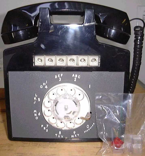 Western Electric 851CMW3  Rotary Dial 5 Line Wall Hanging Phone - Vintage