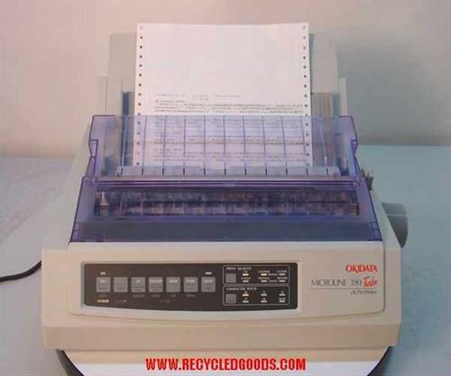 Okidata ML 390 Turbo  24 Pin Dot Matrix Printer GE7200A