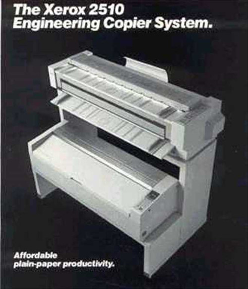 Xerox 2510  Xerox 2510 Engineering Copier w/Manual