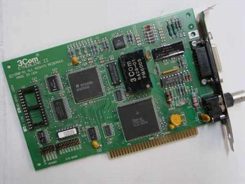 3COM 7920-002  Ether Link II 8-Bit COAX AUI Vintage Network Card