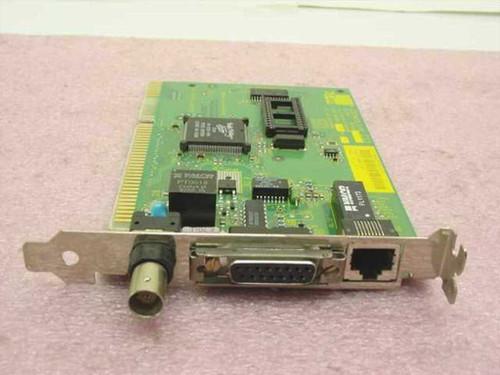 3COM 3C509B  Etherlink III 16-bit Coax BNC AUI Network Card