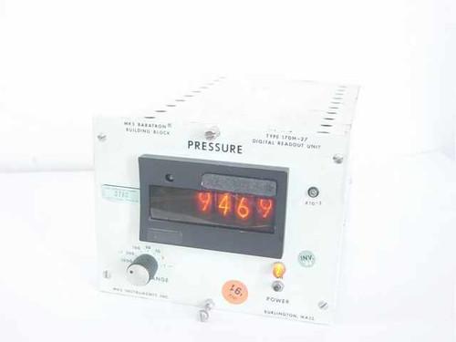 MKS Instruments 170M-27  MKS Baratron Building Block Pressure Digital Meter
