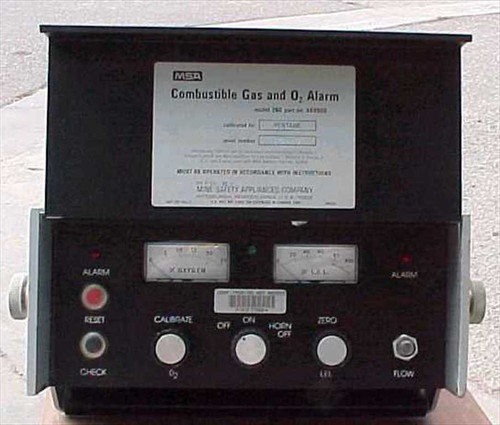 MSA 260  Portable Combustible Gas and Oxygen Alarm
