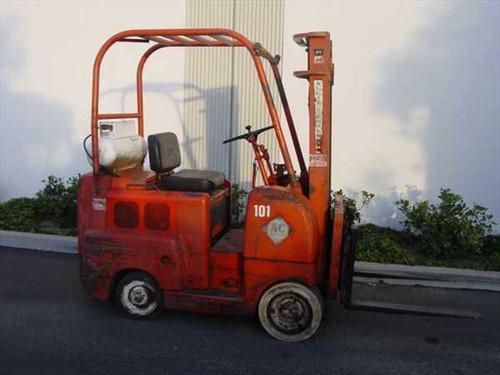 """Allis Chalmers FT-40-24  Propane Forklift 4,000 Lb, 14"""" Mast Side Shift"""