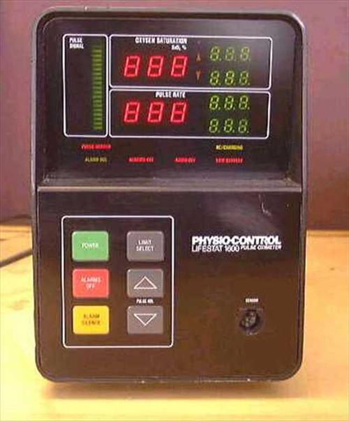 Physio-control Lifestat 1600 Pulse Oximeter  Pulse Oximeter - Portable w/ Alarm