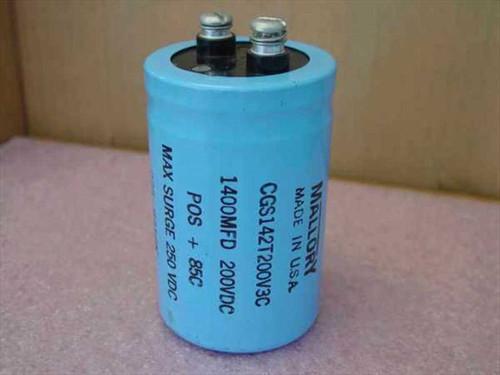 Mallory CGS142T200V3C  200 VDC Blue Capacitors
