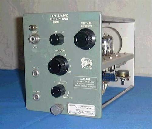 Tektronix Type 53/54K  Fast Rise .05-20V/cm Plug-in