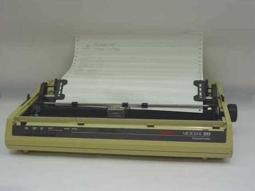Okidata ML 293  ML293 Dot Matrix Printer GE8261B - yellow case