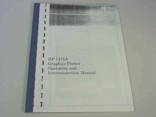 HP 7475A  Pen Plotter Operation & Instruction Manual Desktop