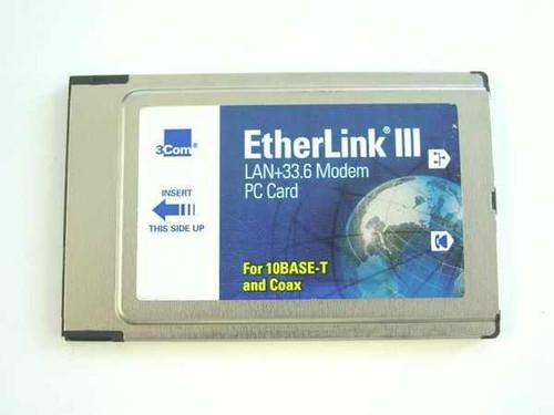 3COM 3C562D/3C563D  33.6K PCMCIA Combo Ethernet modem