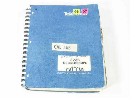 Tektronix Oscilloscope Service Instruction Manual 2236