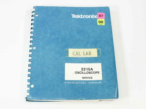Tektronix 2215A  Oscilloscope Service Instruction Manual