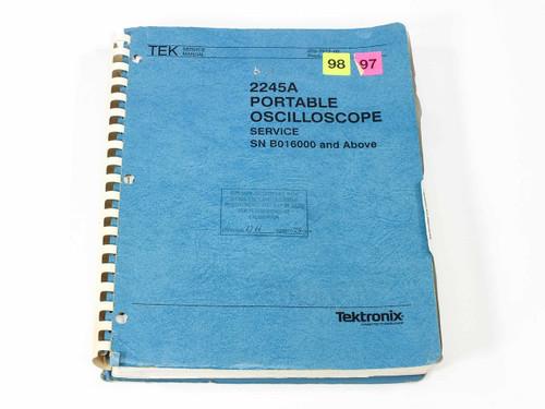 Tektronix 2245A  Portable Oscilloscope Service Manual