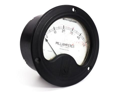 Wesinghouse 0-50 Milliamperes Direct Current Gauge NX-35