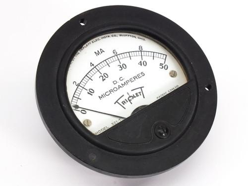 Triplett Model 321-T  0-50 D.C. Microamperes Gauge