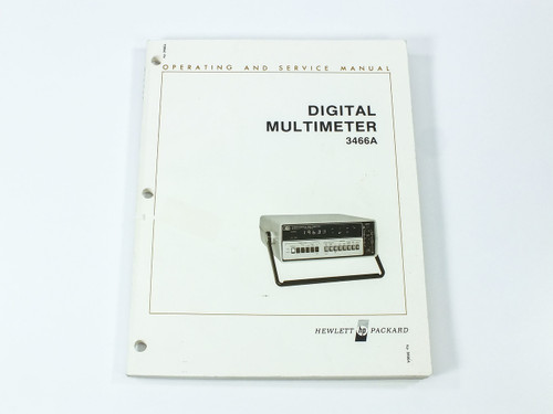 HP 3466A  Digital Multimeter Operating and Service Manual