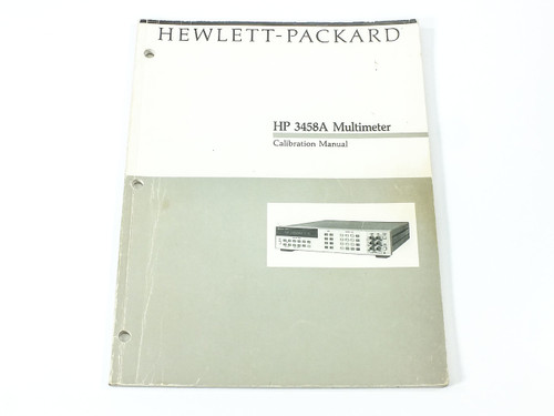 HP 3458A  Multimeter Calibration Manual