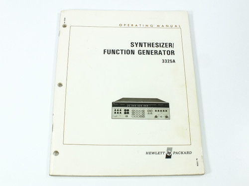 HP 3325A  Synthesizer /Function Generator Operating Manual